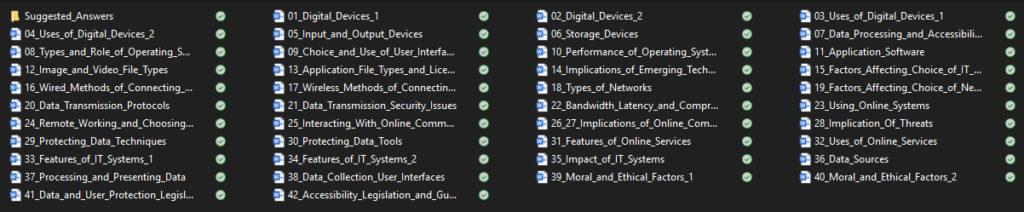 BTEC Level 3 IT Unit 1 Contents